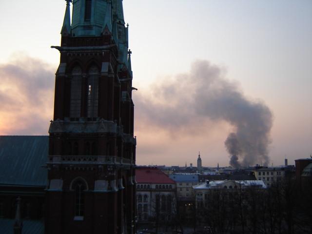 A big surprise: Fire in the heart of Helsinki. Arson