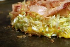 breakfast, monjayaki, food, dish, cuisine, okonomiyaki,