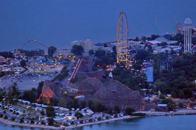 Cedar Point near dusk