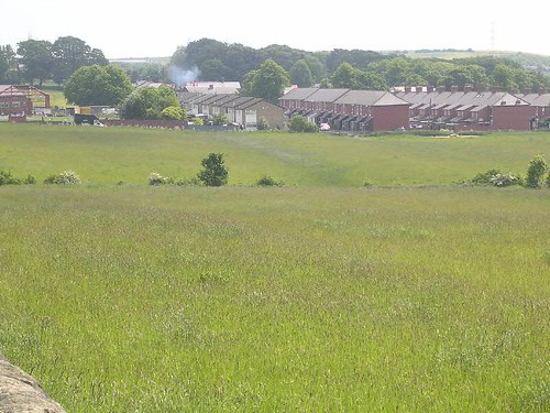 The line of the Vallum at ground level