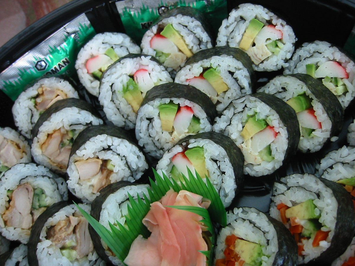 The California roll is a maki-zushi, a kind of sushi roll, usually ...