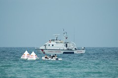 ferry(0.0), yacht(0.0), ship(0.0), cargo ship(0.0), patrol boat(0.0), passenger ship(0.0), tugboat(0.0), vehicle(1.0), sea(1.0), boating(1.0), watercraft(1.0), boat(1.0), coast guard(1.0),