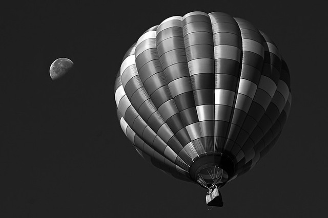 Chasing the Moon BW Crop