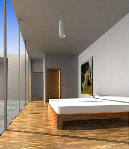 attic bedroom simulation