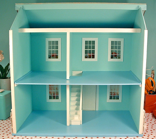 Repainted doll house interior