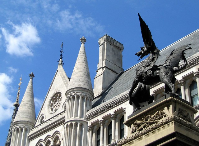 Royal Courts of Justice and city limits dragon