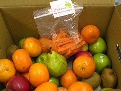 Fruit Box with Carrot Sticks