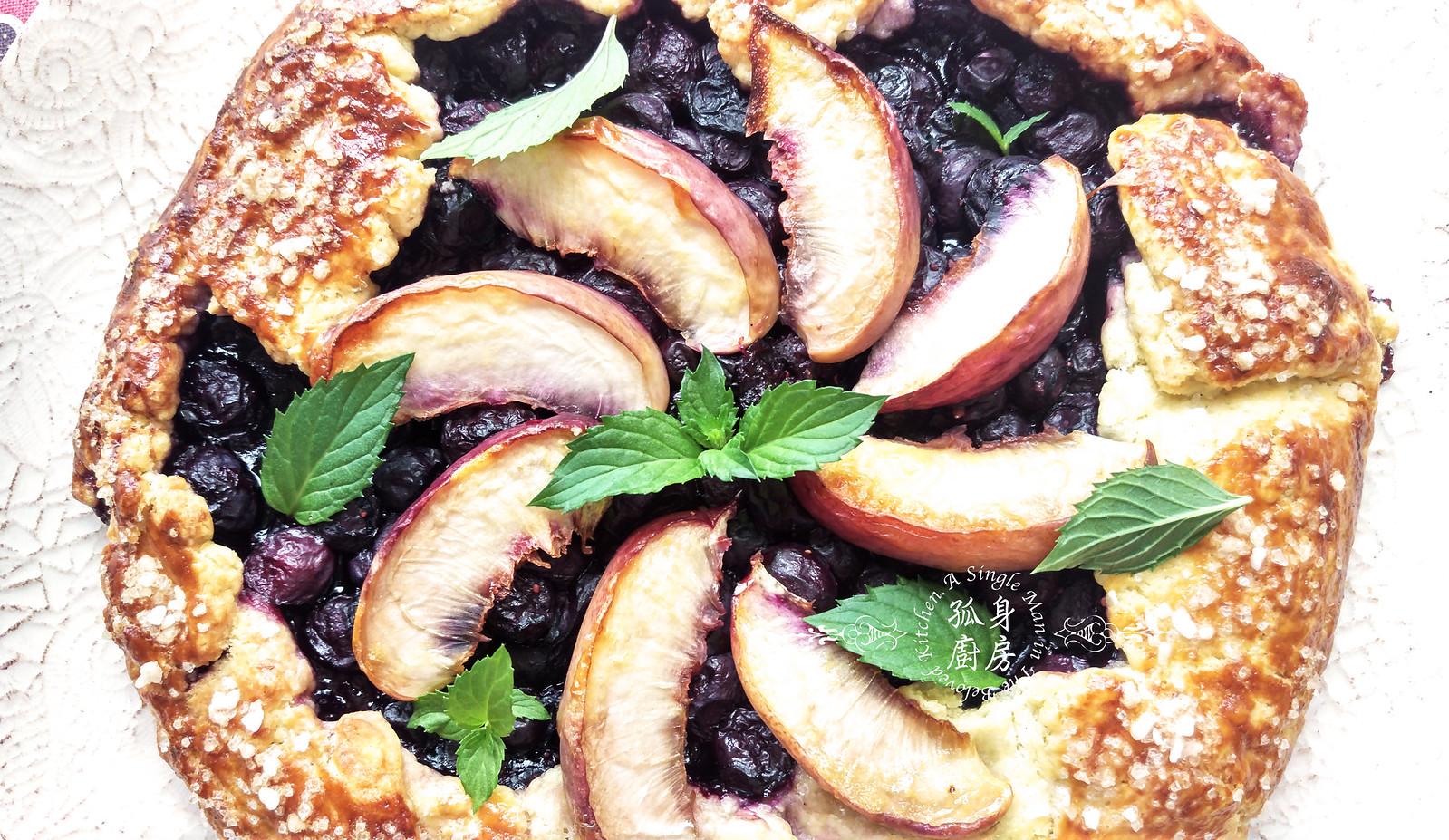 孤身廚房-藍莓甜桃法式烘餅Blueberry-Nectarin Galette31