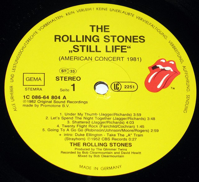 Rolling Stones - Still Life (American Concert 1981) Germany