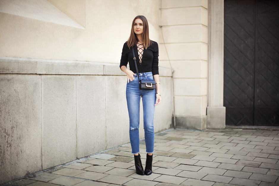 01edaf22a0 ... lace-up-front-top-bodysuit-street-style-outfit