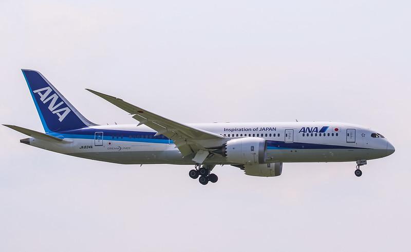 JA834A Boeing 787-8 Dreamliner All Nippon Airways ANA