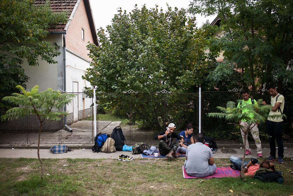Migránsok a Röszkei határátkelőnél