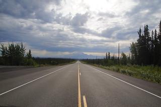 001 Glenn Highway in de buurt van Glennallen