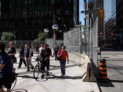 G20 security sidewalk scene