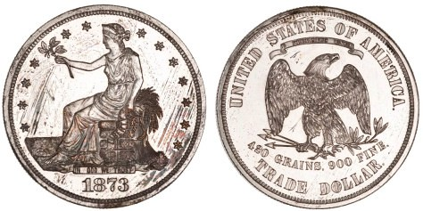 1873 Trade Dollar ANS 1899.58.3