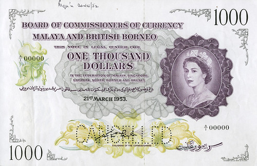 DNW - Malaya $1000 note