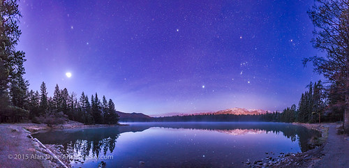 Dawn Planets and Stars in Jasper National Park