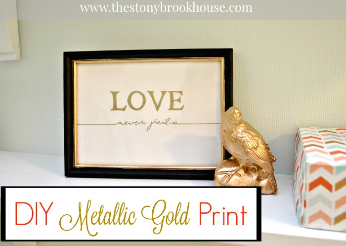 DIY Metallic Gold Print