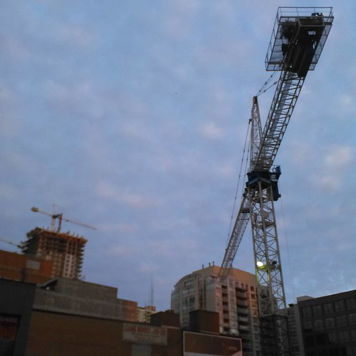 Looking up #toronto #evening #condos #yongeandeglinton