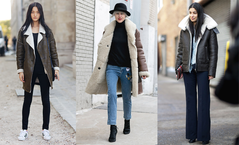 how-to-wear-shearling-coat-outfit