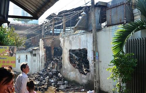 một nam thanh niên chết trong xưởng may cháy ở TP.HCM