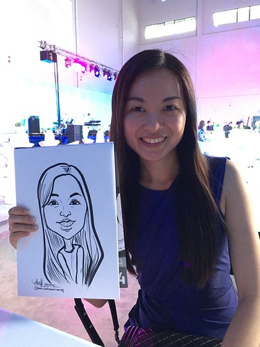 Caricature live sketching for Amgen