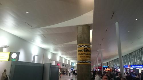 Arrival lobby of JFK airport