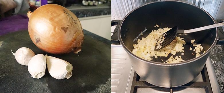 04 Dice & Stir Fry Garlic and Onions