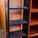 Pink and black shop shelf unit