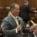 State Rep. Craig Fishbein speaks on the floor of the House during debate about reappointing judges.