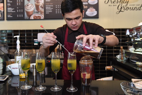 Costa Coffee's Southeast Asia and India representative is Filipino Justin Dela Fuente