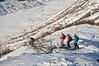 Sjezd z Gemsstocku do Hospentalu. Obvykle tam jsou metry sněhu...