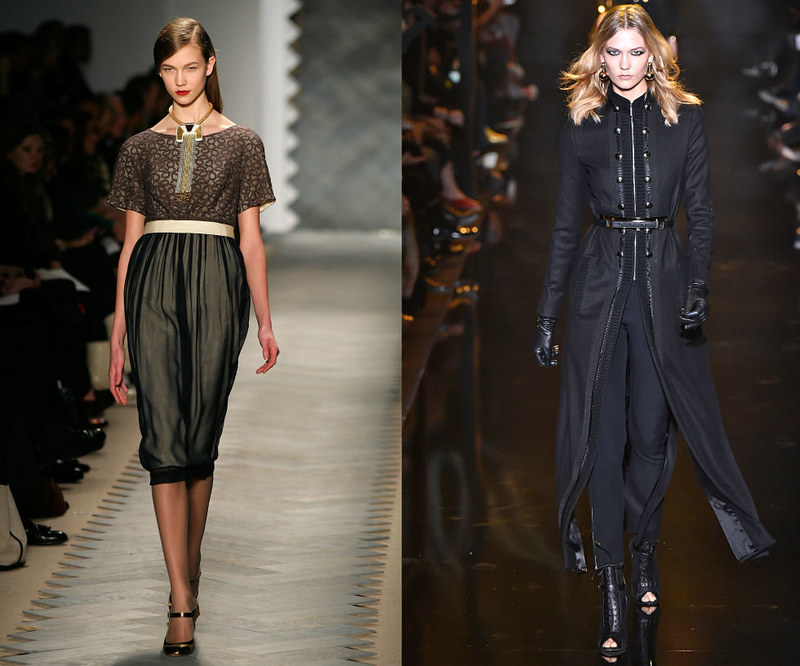 KARLIE KLOSS - Walking the 3.1 Phillip Lim Fall/Winter 2008 show, and at the Elie Saab Fall/Winter 2015 show.