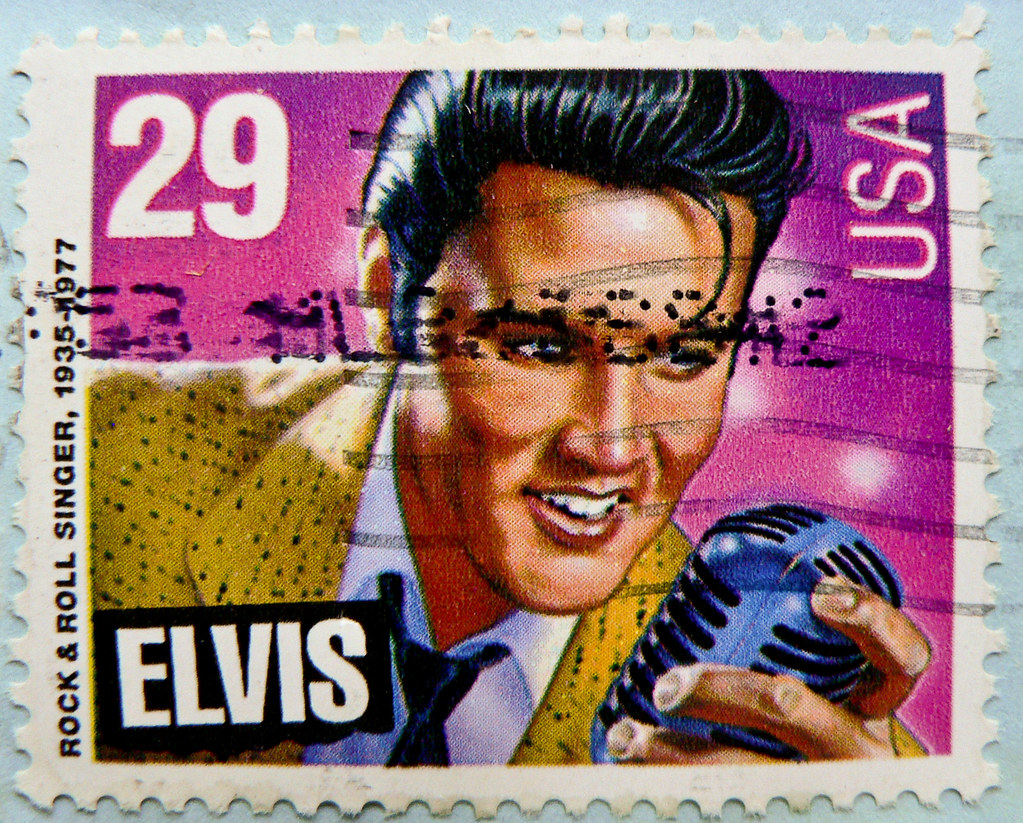 *in memory* great stamp USA 29c Elvis Presley (1935-1977; Rock'n Roll Singer, actor; Memphis, Tennessee; Graceland) United States postes timbre selos sellos USA francobolli postzegels USA 郵便切手 切手  アメリカ postage 切手 Briefmarke USA スタンプ США марки टिकटों แสตมป