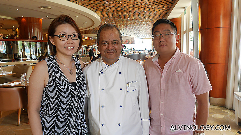 Me with Rebecca Ko, one of the contributors to our sister site, Asia361.com and Chef Oberoi