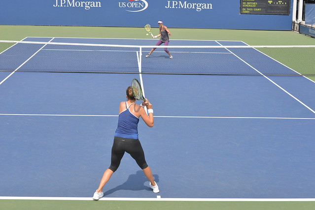 Belinda Bencic and Martina Hingis