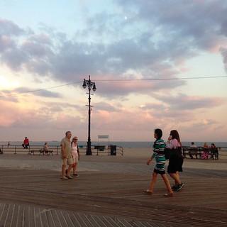 Image of Coney Island Beach near Coney Island. ocean beach brooklyn sand brighton