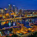 Pittsburgh Pennsylvania, From Mt. Washington by Bill Varney