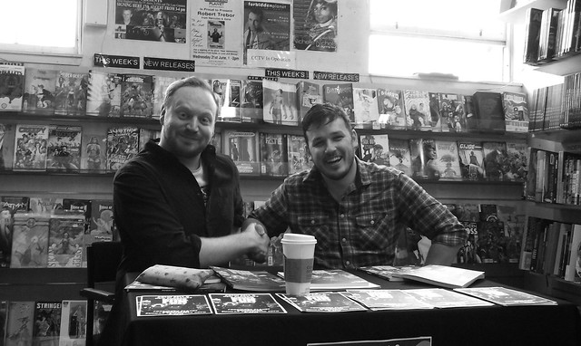 Neil Slorance & Colin Bell signing Forbidden Planet Edinburgh 02