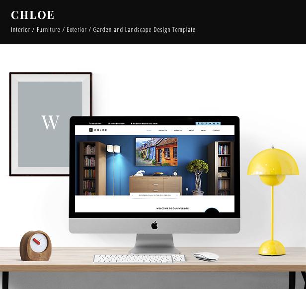Chloe - Interior / Furniture / Exterior / Garden and Landscape Design Template - 5