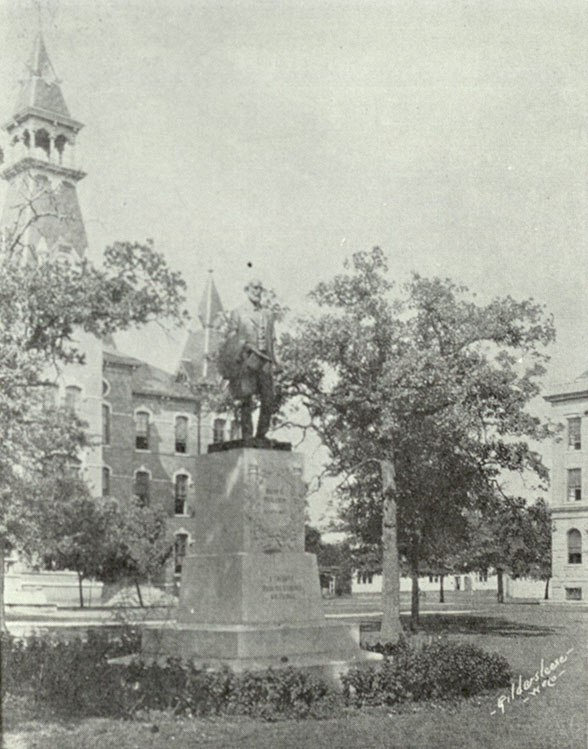 Rufus C. Burleson statue, Baylor University's Burleson Quadrangle, 1935