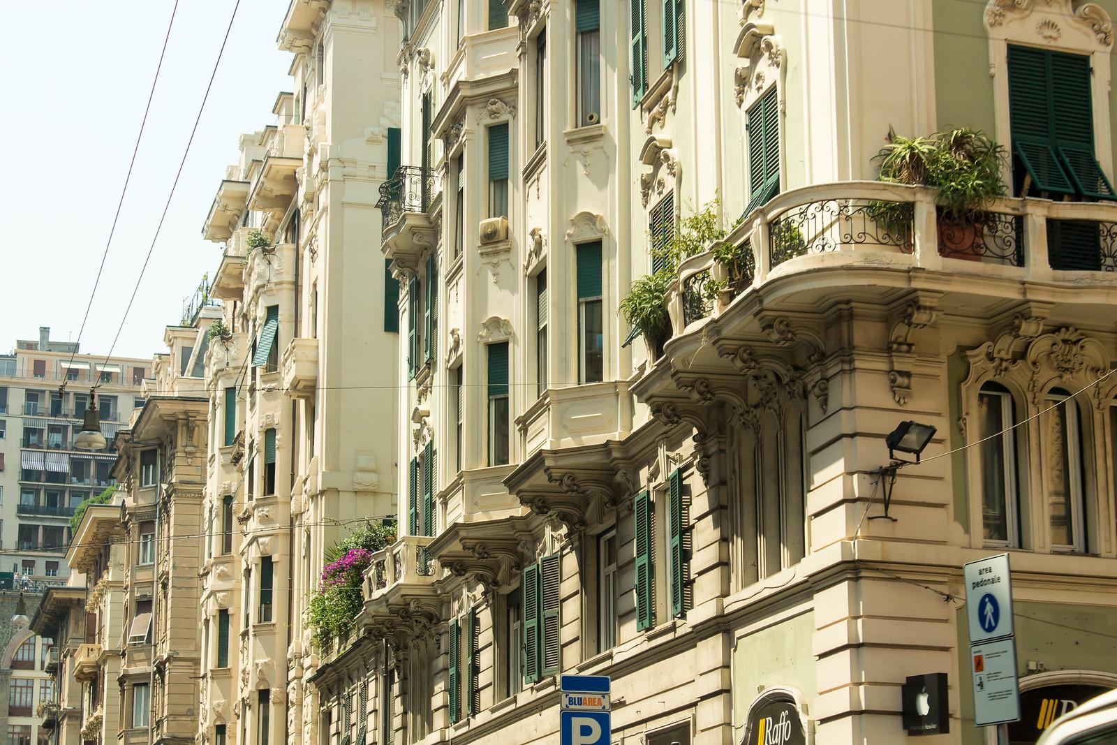 Генуя - Красивые балкончики