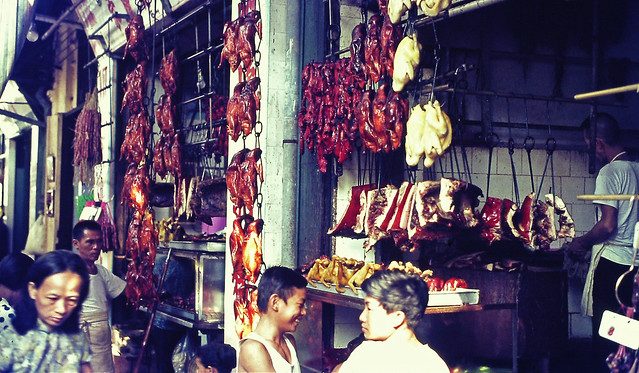 SAIGON 1970 by Charley Seavey - Open air food