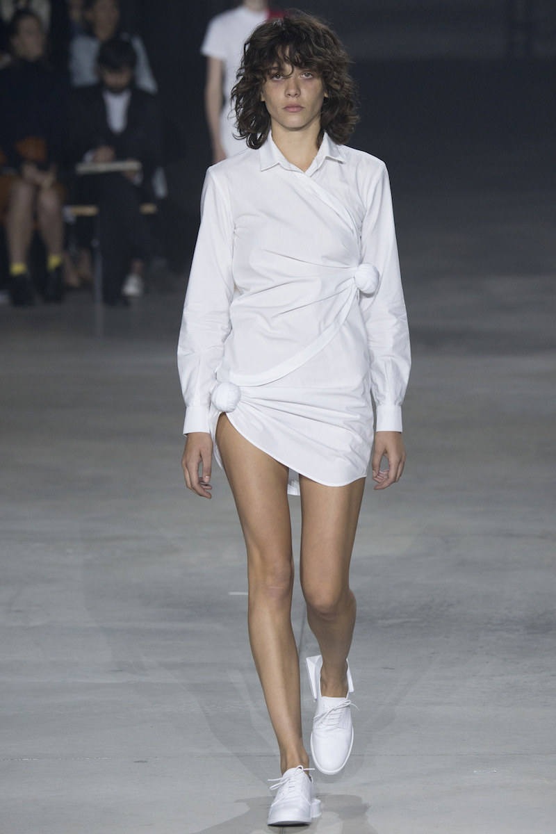 JACQUEMUS SS16 white shirt dress sneaker loafers MODERN LEGACY