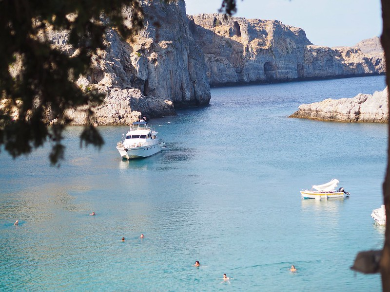 lindosbay, cruiseship, styleblogger, greece, rhodes,
