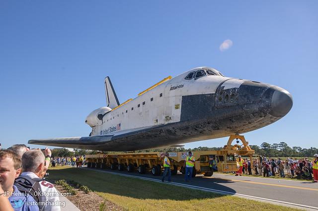 Fri, 11/02/2012 - 12:00 - The Space Shuttle Atlantis finally arrives! - November 02, 2012 12:00:41 PM - , (28.5138,-80.6742)