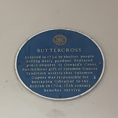 Photo of Solomon Dupeer, St Oswald's Cross, and Buttercross, Pontefract blue plaque