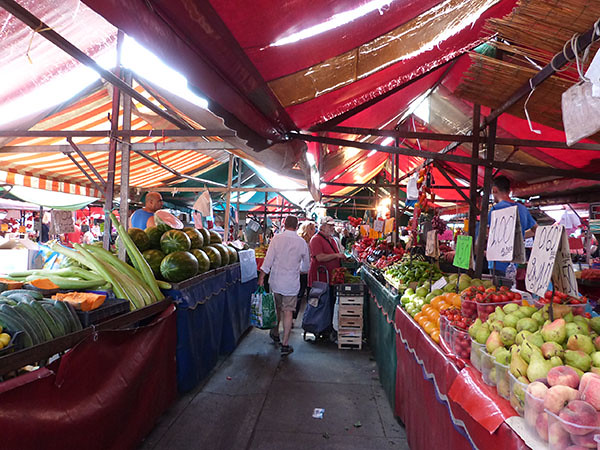 le marché de la République à Turin