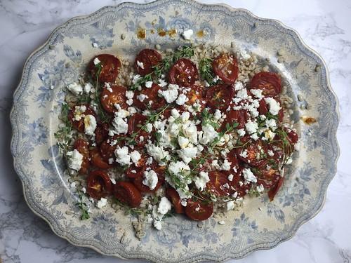 Slow Roasted Tomato, Barley and Feta with Lemon Thy