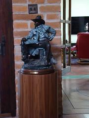 Walnut Cylinder Pedestal